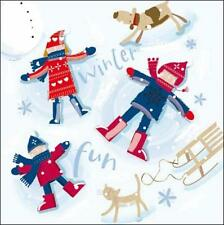 Pack of 5 Winter Fun ChildLine Charity Christmas Cards Xmas Card Packs