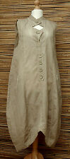 LAGENLOOK*KEKOO*BEAUTIFUL AMAZING QUIRKY LONG TUNIC/DRESS*DUSTY BEIGE*Size 46-48