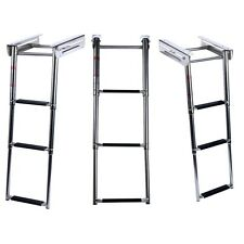 3-Step Under Platform Boat Boarding Ladder, Telescoping, Stainless Steel-New