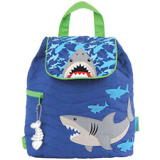 Stephen Joseph Boys Quilted Shark Backpack - Cute Toddler Preschool Bags