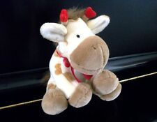 "APPLAUSE Giraffe Plush Stuffed Animal w/ Hearts, 8"" Toy, Soft, Yellow, Brown Red"