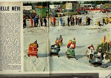 W27 Ritaglio Clipping 1968 Snowbike Lake Placid USA Canada nationals Ski-doo