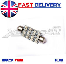 1x 42mm Blue 16 SMD LED Interior Festoon Light Bulb Vauxhall Astra Mk4 4 G