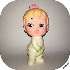 Ninohira 1960s Squeaky Squeak Toy Rubber Girl Figure Doll Made In Japan Lot