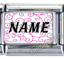 Unique Pink Custom Name 9mm Photo Text Italian Charm