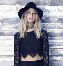 """NWT For Love & Lemons Black Lace """"Midnight"""" Crop Top – Women's Small – $167"""