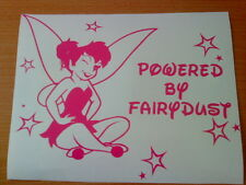 tinkerbell fairy girls girly vinyl car sticker wall art laptop novelty fun decal