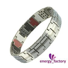 100% TITANIUM Magnetic Energy Germanium Power Health Bracelet 4in1 Bio Armband