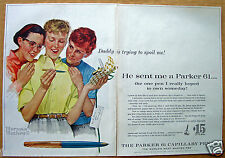 "Norman Rockwell ""Parker 61"" Pen, 1959 Sat. Evening Post Ad..."