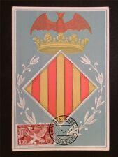 GUINEA ESPANOLA MK 1958 FERNANDO POO WAPPEN DOVE CARTE MAXIMUM CARD MC c7853