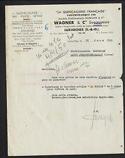 """LUZARCHES (95) QUINCAILLERIE & METAUX """"BARRILLIER / WAGNER Succ"""" en 1950"""