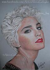 MADONNA MDNA Original colored pencil drawing portrait Like a Virgin Sexy Blonde
