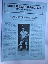 Toronto Maple Leaf Gardens Official Program vs Detroit Red Wings March 11, 1970