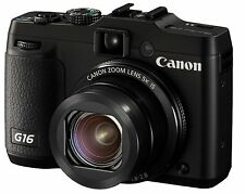 Canon PowerShot G16 12.1 MP Digital Camera - Black Brand New
