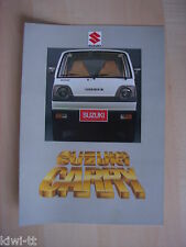 Suzuki Carry (mini-bus, High-Roof, pick-up, commercial) folleto/brochure, NL
