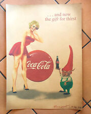 "Pin Up Poster Plakat Retro-Style Rockabilly Vintage ""Coke Girl"""