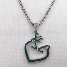 New 1pcs Browning Deer necklace Women Jewelry Dangle Heart Earrings #A6