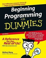 Beginning Programming For Dummies Wang, Wallace Paperback