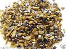 30 g Loose Tigers Eye Gemstone Chippings - NO HOLE - Jewellery Making - SMALL