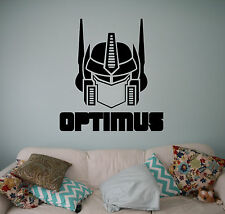 Transformers Optimus Prime Wall Vinyl Decal Vinyl Stickers Home Art Interior 3