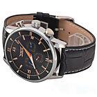 JARAGAR DELUXE Black Herrenuhr mit BOX , NEU automatisch Leder Armband Uhr Neu