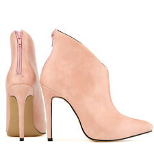 Women's Platform Ankle Boots Shoes Faux Leather High heels Stiletto US STOCK