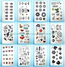 US Seller- 12 sheets wholesale lot temporary tattoo stickers fake tatoos