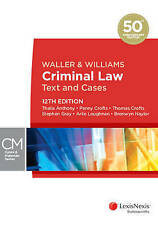 Used Book:  Waller & Williams Criminal Law Text and Cases