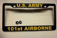 Military License Plate FRAME, U.S. ARMY/101st. Airborne-Polished ABS-#841010Y