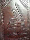 A4 RAVEN Pagan Wicca Handmade Leather Folder Portfolio - CROW