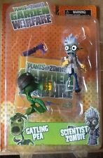 Plants VS Zombies Garden Warfare Gatling Pea Scientist Zombie Action Figure MINT