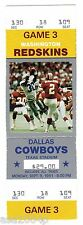 1991 WORLD CHAMPION WASH REDSKINS @ DALLAS COWBOYS FULL TICKET STUB MARK RYPIEN