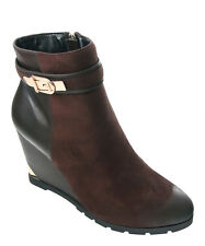 NEW GC Shoes Chocolate Getaway Wedge Ankle Boot Size EUR 36 / US 6