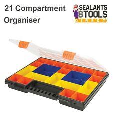 Petites pièces vis Outil Stockage Organisateur 21 Compartiment empilable boîte