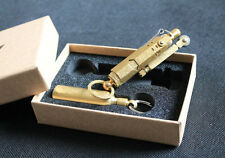 WWI WWII German Vintage Brass/Copper Trench lighter and Solid Brass fuel bottle