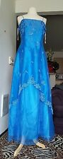 Evening Gown size Large- Blue -  LET'S FASHION