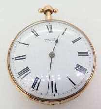 ANTIQUE C.1800 MUSICAL 1/4 REPEATER 18K ROSE GOLD LARGE POCKET WATCH