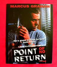 POINT OF NO RETURN 1994 MARCUS GRAHAM NIKKI COGHILL DOUG BOWLES US MOVIE PROGRAM