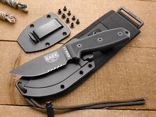 Couteau ESEE Model 3 Black Carbone 1095 Manche G-10 Etui Kydex USA ES3MILSBLK