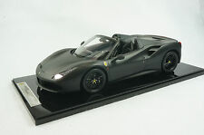 1/12 BBR FERRARI 488 SPIDER IN COLOR MATT BLACK LIMITED 5 PIECES N MR