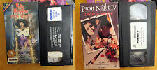 VHS Lot: Prom Night 2 4 II IV Hello Mary Lou: horror promnight slasher