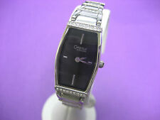 BULOVA CARAVELLE 43T17 LADIES DRESS WATCH ST STEEL CRYSTAL BLACK DIAL ANALOG