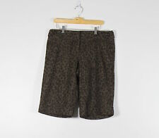 THE LIMITED dark brown cheetah tweed cassidy fit cuffed shorts 10