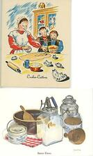 1 VINTAGE BUTTER CHURN MOLD PRINT 1 MORAVIAN CHRISTMAS COOKIE CUTTER RECIPE CARD