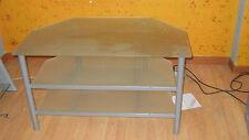 Mobiletto porta televisore acciaio e vetro temprato