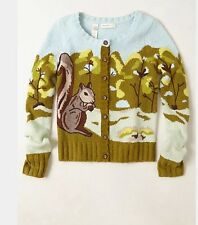Rare Anthropologie Sweater Sleeping on Snow S Archival Classic Nwt  Squirrel