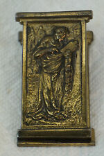 ANTIQUE PAPER CLIP ART NOUVEAU WOMAN CAST IRON DESK WALL PAPERCLIP GILT