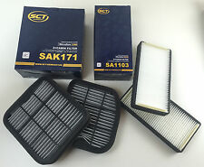 FILTER SET 2 x ACTIVE CARBON FILTER 2 x POLLEN FILTER SCT GERMANY W210 S210 W220