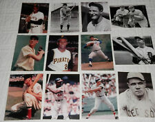 Baseball All Time Greats Postcard Set of 12 Ruth Gehrig Clemente Mays Aaron Cobb