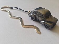 Renault 4CV ref208 FULL CAR on a Curved bookmark with cord